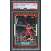 2009/10 Upper Deck #97 Michael Jordan Legacy Collection Gold '86-87 Fleer PSA 10 (GEM MT)