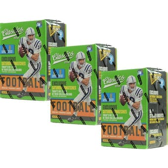 2018 Panini Classics Football 8-Pack Blaster Box (Lot of 3)