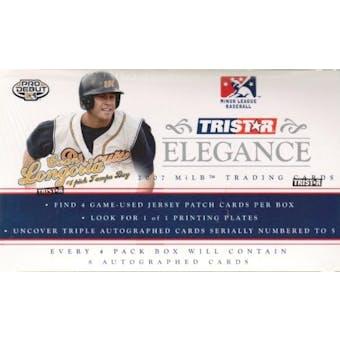 2007 TriStar Elegance Baseball Hobby Box