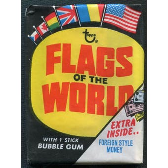 1970 Topps Flags Of The World Pack
