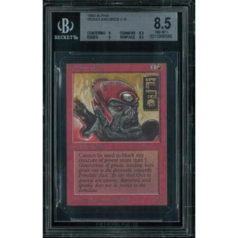 Magic the Gathering Alpha Ironclaw Orcs BGS 8.5 (9, 8.5, 9, 8.5)