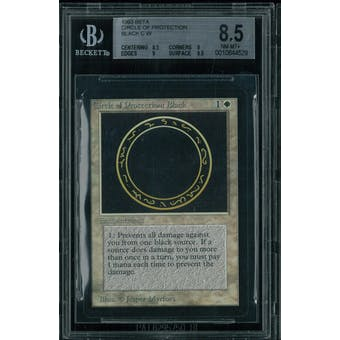 Magic the Gathering Beta Circle of Protection Black BGS 8.5 (8.5, 9, 9, 8.5)