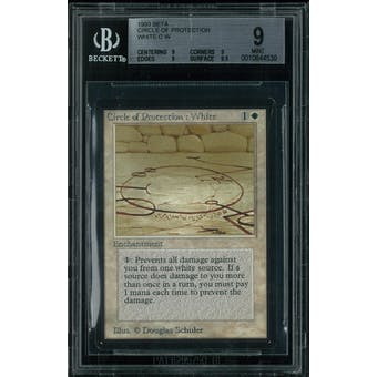 Magic the Gathering Beta Circle of Protection White BGS 9 (9, 9, 9, 9.5)