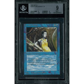 Magic the Gathering Beta Creature Bond BGS 9 (9, 9, 9.5, 9.5)