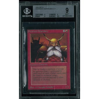 Magic the Gathering Beta Dwarven Warriors BGS 9 (9, 9, 9, 8.5)