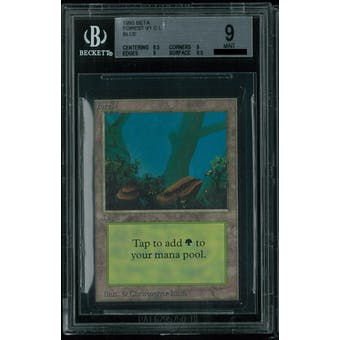 Magic the Gathering Beta Forest V1 BGS 9 (8.5, 9, 9, 9.5)