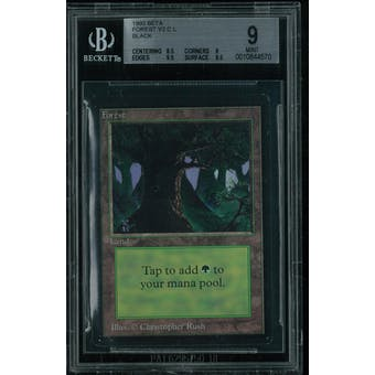 Magic the Gathering Beta Forest V2 BGS 9 (8.5, 9, 9.5, 9.5)