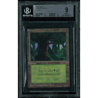 Magic the Gathering Beta Forest V2 BGS 9 (9, 9, 9.5, 8.5)