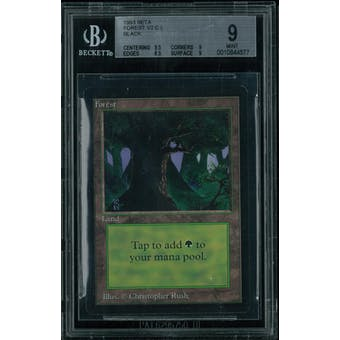 Magic the Gathering Beta Forest V2 BGS 9 (9.5, 9, 8.5, 9)