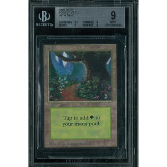 Magic the Gathering Beta Forest V3 BGS 9 (8.5, 9, 9, 9)