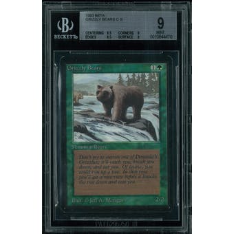 Magic the Gathering Beta Grizzly Bears BGS 9 (8.5, 9, 9.5, 9)