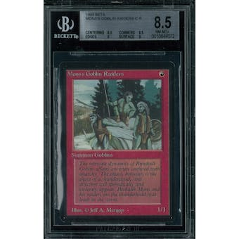 Magic the Gathering Beta Mons's Goblin Raiders BGS 8.5 (8.5, 8.5, 9, 9)