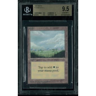 Magic the Gathering Beta Plains V2 BGS 9.5 (9.5, 9, 9.5, 9.5)