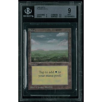 Magic the Gathering Beta Plains V3 BGS 9 (9, 8.5, 9, 9.5)