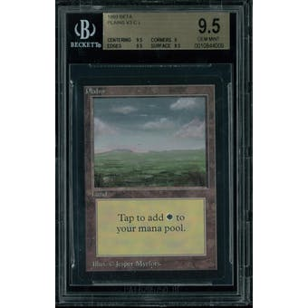 Magic the Gathering Beta Plains V3 BGS 9.5 (9.5, 9, 9.5, 9.5)