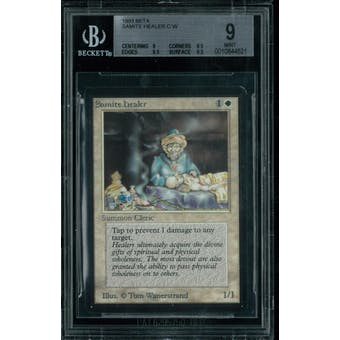 Magic the Gathering Beta Samite Healer BGS 9 (9, 8.5, 9.5, 9.5)