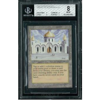 Magic the Gathering Arabian Nights Library of Alexandria BGS 8 (9, 9, 9, 7)