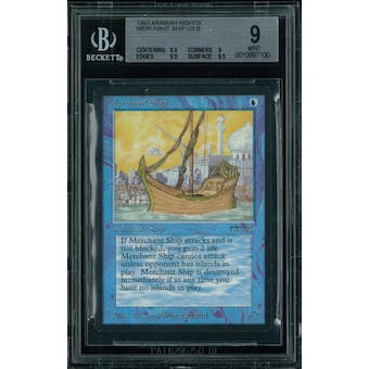 Magic the Gathering Arabian Nights Merchant Ship BGS 9 (8.5, 9, 9.5, 9.5)