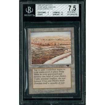 Magic the Gathering Antiquities Strip Mine (even horizon)  BGS 7.5 (9, 7.5, 7, 9.5)