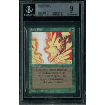 Magic the Gathering Legends Avoid Fate BGS 9 (9, 9, 9, 9.5)