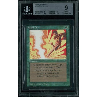 Magic the Gathering Legends Avoid Fate BGS 9 (9, 9, 9.5, 9.5)