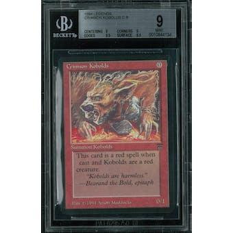 Magic the Gathering Legends Crimson Kobolds BGS 9 (9, 9, 9.5, 9.5)