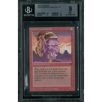 Magic the Gathering Legends Crookshank Kobolds BGS 9 (9.5, 9, 9, 9.5)
