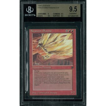 Magic the Gathering Legends Firestorm Phoenix BGS 9.5 (9, 9.5, 9.5, 9.5)
