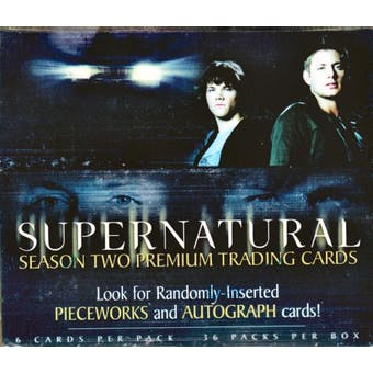 Supernatural Season 2 Hobby Box (2007 Inkworks)