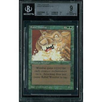 Magic the Gathering Legends Rabid Wombat BGS 9 (9, 9.5, 9.5, 9)