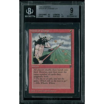 Magic the Gathering Legends Winds of Change BGS 9 (8.5, 9, 9.5, 9.5)