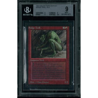 Magic the Gathering Collector's Edition CE IE Sedge Troll BGS 9 (9, 9, 9, 9.5)