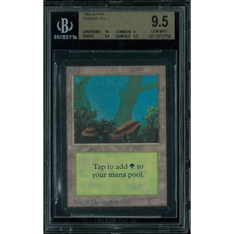 Magic the Gathering Alpha Forest V2 BGS 9.5 (10, 9, 9.5, 9.5)