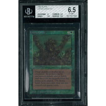 Magic the Gathering Alpha Living Lands BGS 6.5 (9, 6.5, 5.5, 8.5)