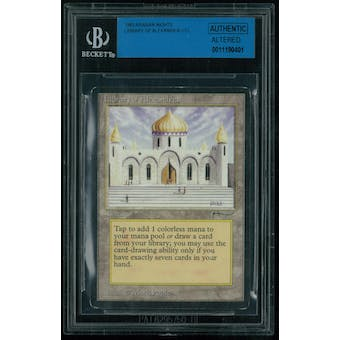 Magic the Gathering Arabian Nights Library of Alexandria - MODERATE PLAY (MP) BGS Authentic Altered (dirt?)