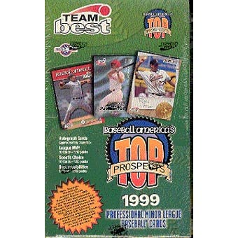 1999 Best All-American Top Prospects Baseball Hobby Box