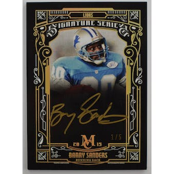 2015 Topps Museum Collection Barry Sanders Auto Card #SSA_BS #1/5