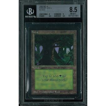 Magic the Gathering Beta Forest (black) BGS 8.5 (9, 8, 8.5, 8.5)