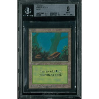 Magic the Gathering Beta Forest (blue) BGS 9 (8.5, 9, 9.5, 9.5)