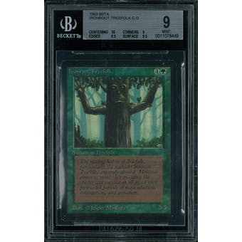 Magic the Gathering Beta Ironroot Treefolk BGS 9 (10, 9, 8.5, 9.5)
