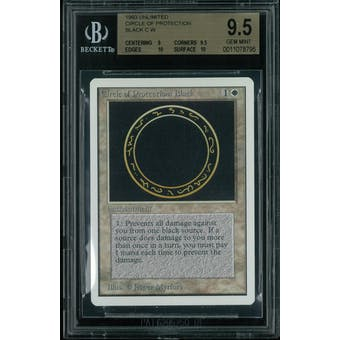 Magic the Gathering Unlimited Circle of Protection: Black BGS 9.5 (9, 9.5, 10, 10)