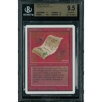 Magic the Gathering Unlimited False Orders BGS 9.5 (9, 9.5, 9.5, 10)