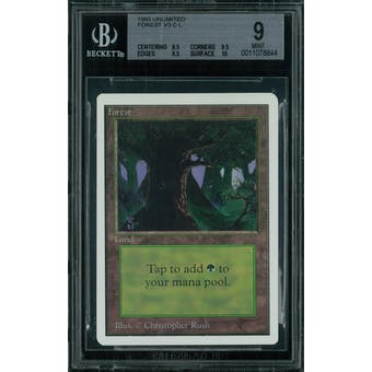 Magic the Gathering Unlimited Forest v3 BGS 9 (8.5, 9.5, 9.5, 10)