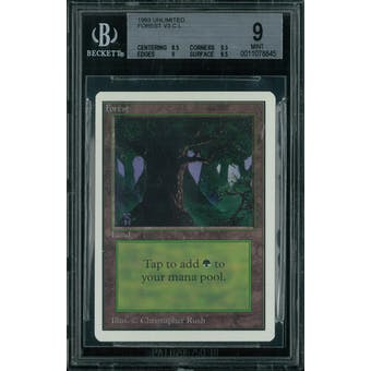 Magic the Gathering Unlimited Forest v3 BGS 9 (8.5, 9.5, 9, 9.5)