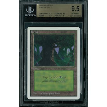 Magic the Gathering Unlimited Forest v3 BGS 9.5 (9.5, 9.5, 9.5, 9)
