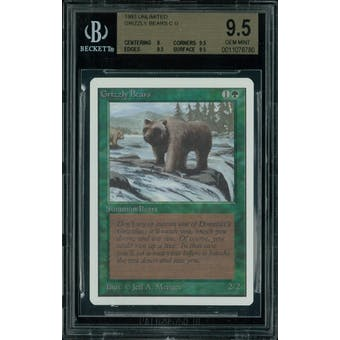 Magic the Gathering Unlimited Grizzly Bears BGS 9.5 (9, 9.5, 9.5, 9.5)