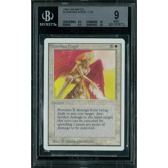 Magic the Gathering Unlimited Guardian Angel BGS 9 (8.5, 10, 9.5, 10)