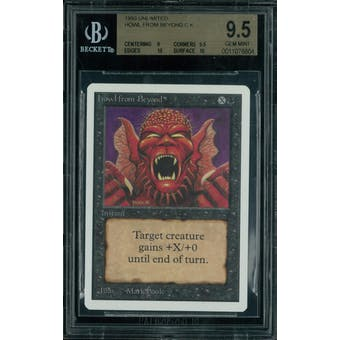 Magic the Gathering Unlimited Howl from Beyond BGS 9.5 (9, 9.5, 10, 10)