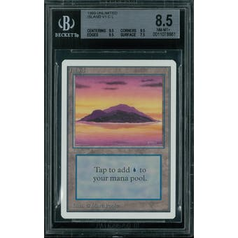 Magic the Gathering Unlimited Island v1 BGS 8.5 (9.5, 9.5, 9.5, 7.5)