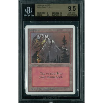 Magic the Gathering Unlimited Mountain v1 BGS 9.5 (9, 10, 9.5, 10)